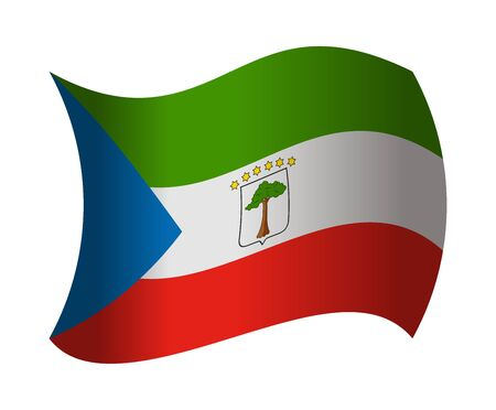 equatorial guinea flag waving in the wind