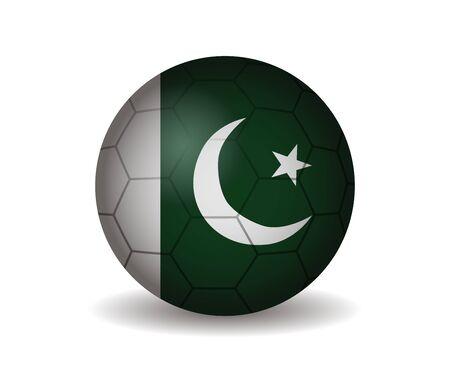 league of nations: pakistan soccer ball Illustration