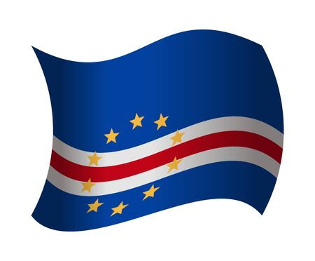 an        verde: cape verde flag waving in the wind Illustration