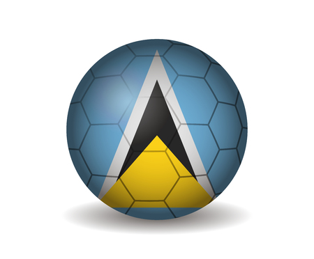 kickball: saint lucia soccer ball Illustration