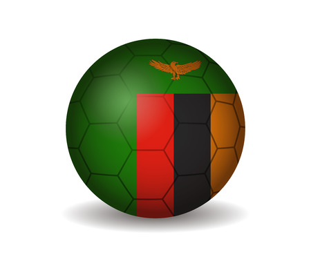 league of nations: zambia soccer ball Illustration