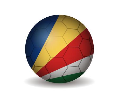 seychelles soccer ball Illustration