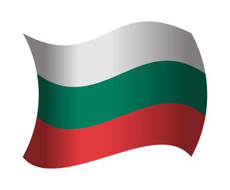 bulgaria: bulgaria flag waving in the wind Illustration