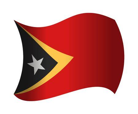 east: east timor flag waving in the wind