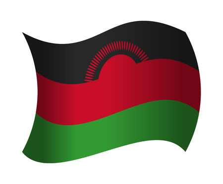 malawi flag: malawi flag waving in the wind Illustration