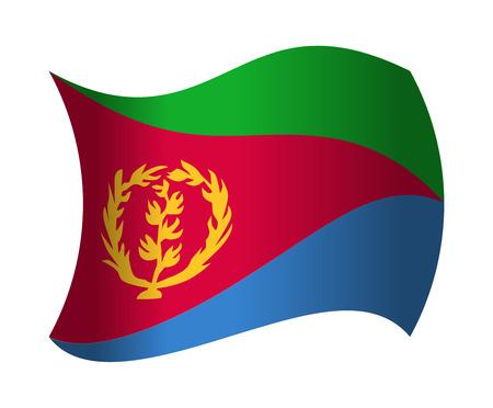 eritrea flag waving in the wind Illustration