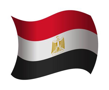 egypt flag: egypt flag waving in the wind