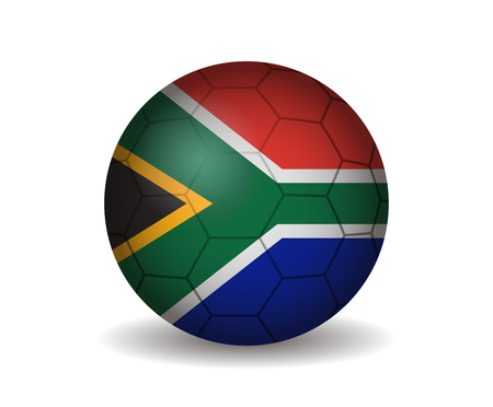 league of nations: south africa soccer ball Illustration