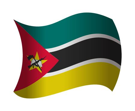 mozambique: mozambique flag waving in the wind