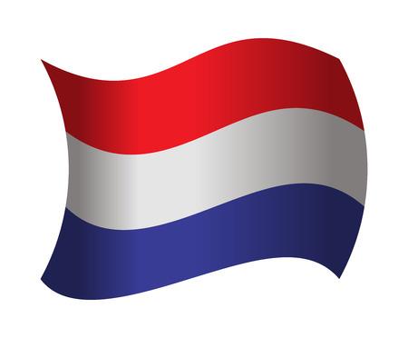 netherlands flag: netherlands flag waving in the wind