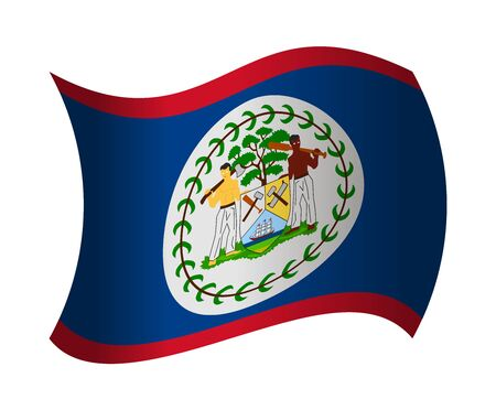 belize: belize flag waving in the wind
