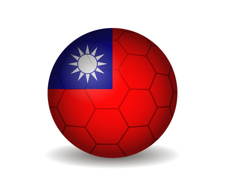 taiwan: taiwan soccer ball Illustration