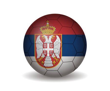serbia: serbia soccer ball