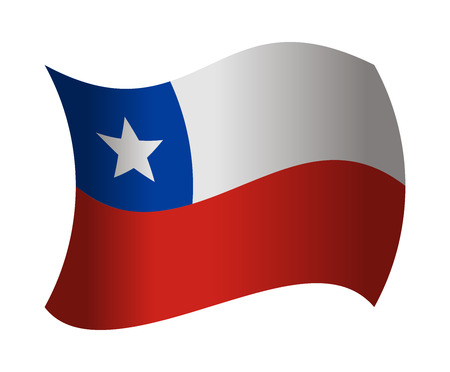bandera de chile: bandera de Chile ondeando en el viento