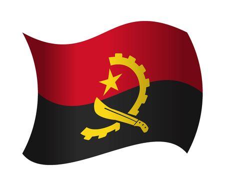 angola: angola flag waving in the wind