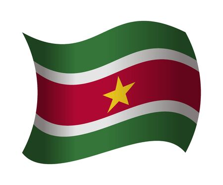 suriname: suriname flag waving in the wind