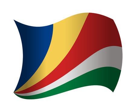 seychelles: seychelles flag waving in the wind