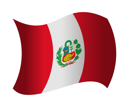 peru flag waving in the wind Illustration
