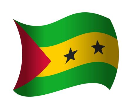 sao tome flag waving in the wind