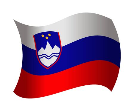 slovenia flag waving in the wind Illustration