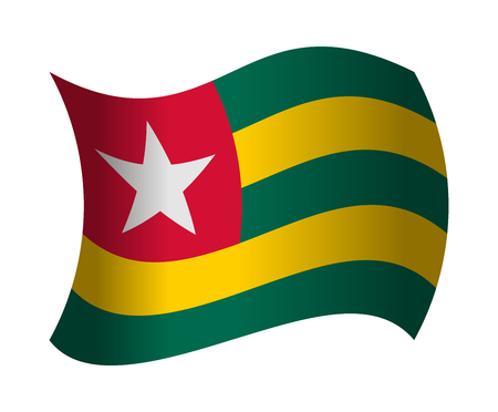togo: togo flag waving in the wind