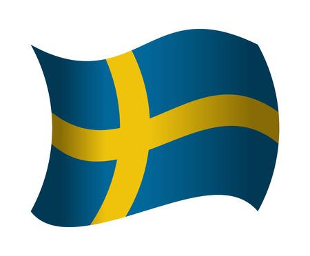 sweden flag waving in the wind Illustration