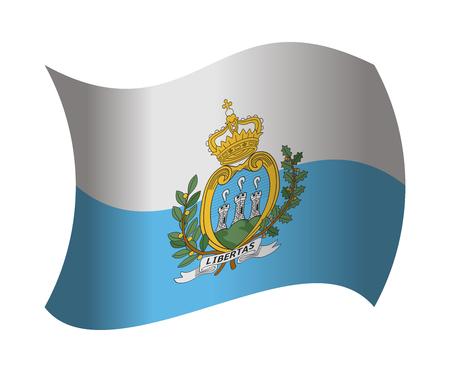 marino: san marino flag waving in the wind