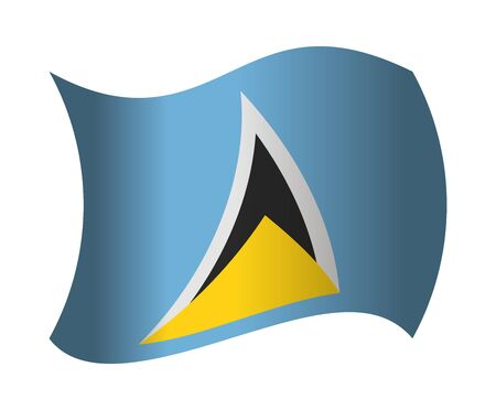 lucia: saint lucia flag waving in the wind