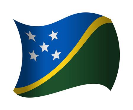 solomon: solomon islands flag waving in the wind