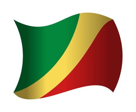 republic of the congo: republic congo flag waving in the wind