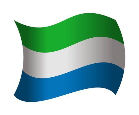 leone: sierra leone flag waving in the wind