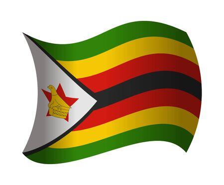 zimbabwe: zimbabwe flag waving in the wind