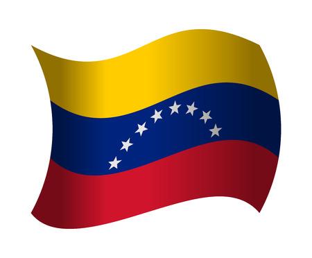 bandera de venezuela: bandera de Venezuela ondeando en el viento