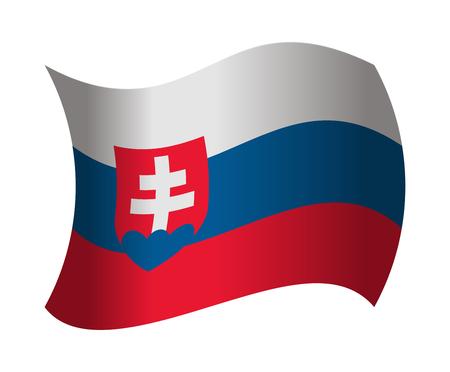 slovakia flag: slovakia flag waving in the wind