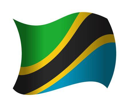 tanzania: tanzania flag waving in the wind