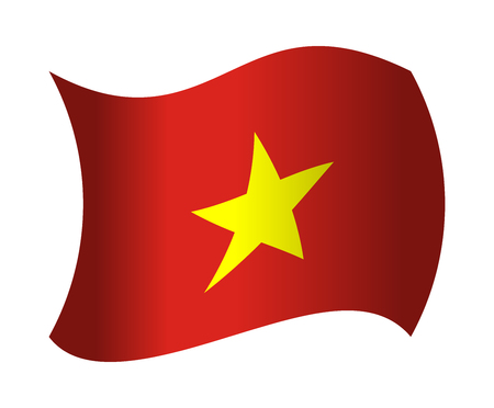 vietnam flag: vietnam flag waving in the wind