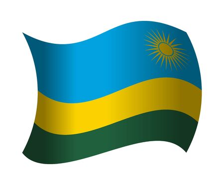 rwanda: rwanda flag waving in the wind Illustration