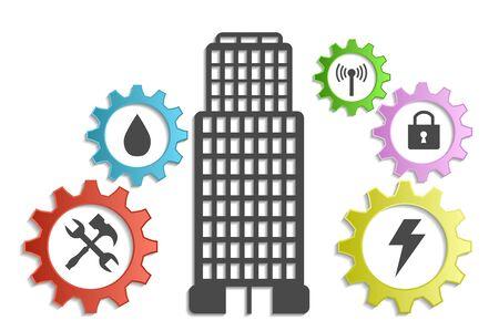 community service: community service background Illustration