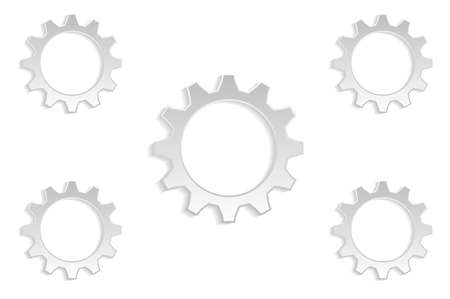 gray: 5 gears gray background
