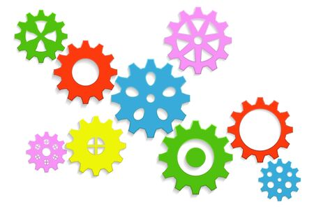 multicolored background: gears multicolored background