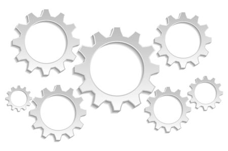 gray: 7 gears gray background