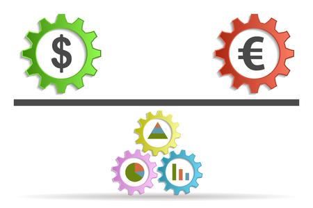 euro: conversion dollar euro background