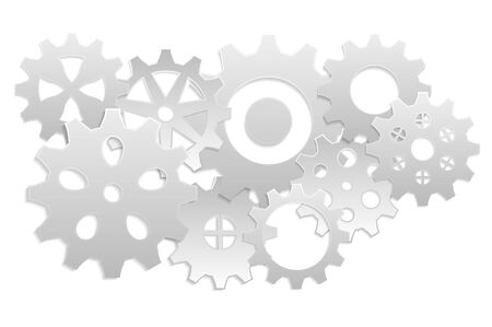 gray: 9 gears gray background Illustration