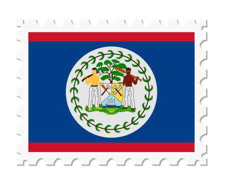 stamp flag belize royalty free cliparts vectors and stock