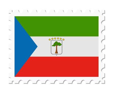 equatorial guinea: stamp flag equatorial guinea Illustration