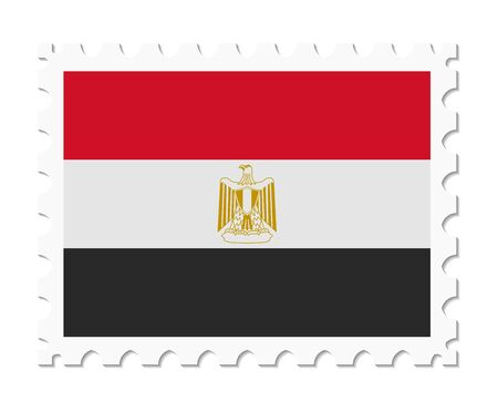 flag of egypt: stamp flag egypt Illustration