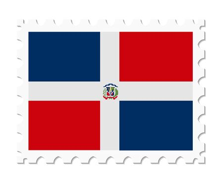 dominican: stamp flag dominican republic