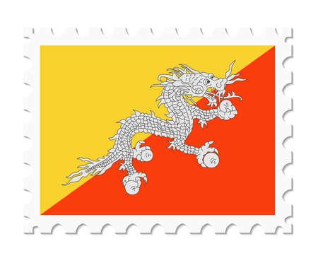stamp flag bhutan