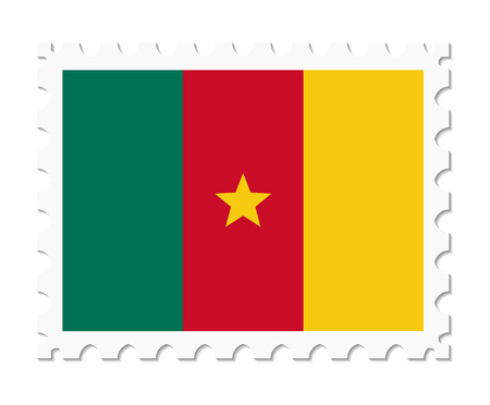 cameroon: stamp flag cameroon