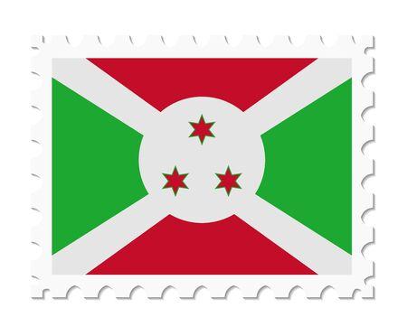 burundi: stamp flag burundi
